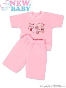 Detské letné pyžamo New Baby ružové - Ružová