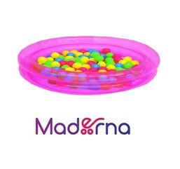 Detský nafukovací bazén Bestway s loptičkami ružový