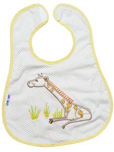 Detský podbradník Akuku bežový s žirafkou - Béžová