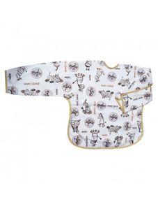 Detský podbradník s rukávmi Akuku béžový se zebrou - Béžová