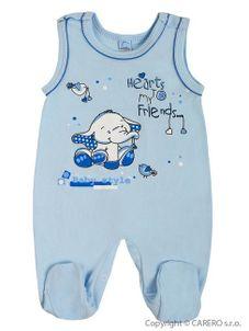 Dojčenské dupačky Bobas Fashion Benjamin modré - Modrá