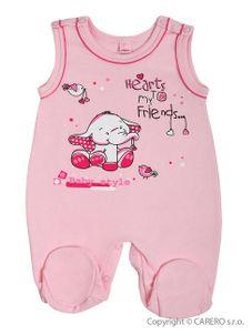 Dojčenské dupačky Bobas Fashion Benjamin ružové - Ružová