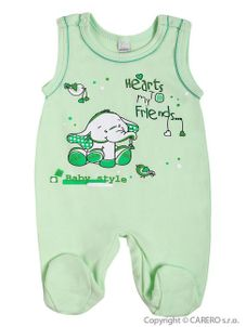 Dojčenské dupačky Bobas Fashion Benjamin zelené - Zelená
