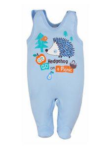 Dojčenské dupačky Bobas Fashion Ježko modré - Modrá