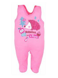 Dojčenské dupačky Bobas Fashion Ježko ružové - Ružová