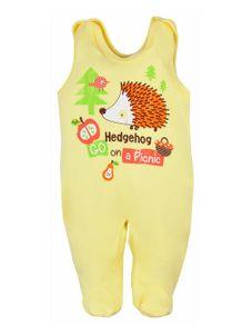 Dojčenské dupačky Bobas Fashion Ježko žlté - Žltá