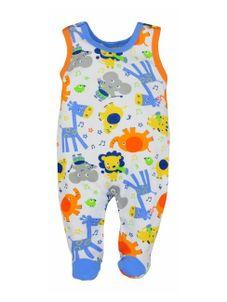Dojčenské dupačky Bobas Fashion Zoo modré - Modrá