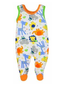 Dojčenské dupačky Bobas Fashion Zoo oranžové - Oranžová