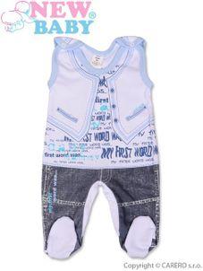 Dojčenské dupačky New Baby Jeans modré - Modrá