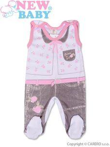 Dojčenské dupačky New Baby Jeans ružové - Ružová