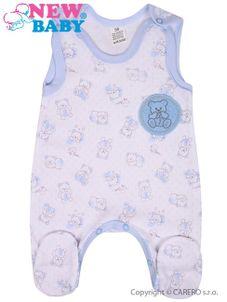 Dojčenské dupačky New Baby Roztomilý Medvedík modré - Modrá