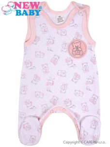 Dojčenské dupačky New Baby Roztomilý Medvedík ružové - Ružová