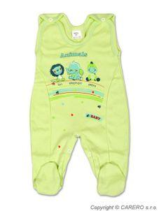 Dojčenské dupačky Zvieratká - Zelená