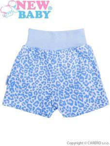 Dojčenské kraťasky New Baby Leopardík modré - Modrá