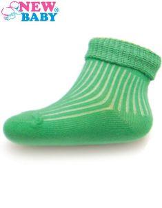 Dojčenské pruhované ponožky New Baby zelené - Zelená