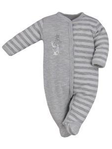 Dojčenský bavlnený overal Bobas Fashion Strieborná Mačka svetlo sivý - Sivá