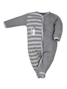 Dojčenský bavlnený overal Bobas Fashion Strieborná Mačka tmavo sivý - Sivá
