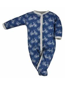Dojčenský bavlnený overal Koala BIKE modro-biely - Modrá