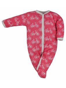 Dojčenský bavlnený overal Koala BIKE ružovo-biely - Ružová