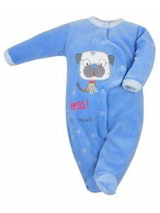 Dojčenský overal Koala Hello modrý - Modrá