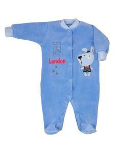 Dojčenský overal Koala Okolo sveta tmavo-modrý - Tmavo modrá