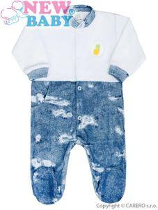 Dojčenský overal New Baby Light Jeansbaby biely - Biela