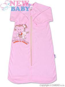 Dojčenský spací vak New Baby ružový - Ružová