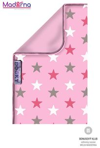 Dooky deka Blanket Baby Pink/Pink Stars