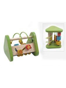 Drevená edukačná hračka Baby Mix trojuholník - Zelená