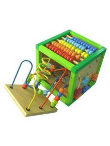 Drevená edukačná kocka Baby Mix - Zelená