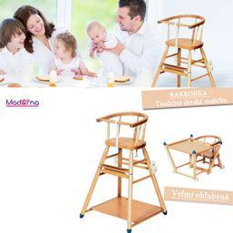 Drevená stolička Barborka tradičná dema