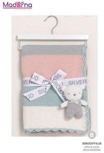 East Coast darčeková sada pletená deka a medvedík