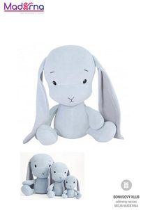 Effík Bunny modrý so šedými uškami S,M,L