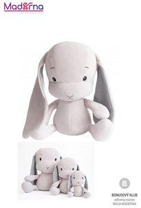 Effík Bunny ružový so šedými uškami S,M,L