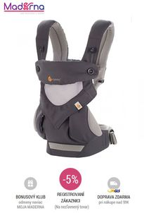 Ergobaby - nosič Four Position 360° Cool Air - carbon/grey