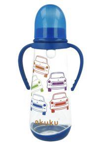 Fľaša s obrázkom Akuku 250 ml - Modrá