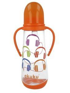 Fľaša s obrázkom Akuku 250 ml - Oranžová