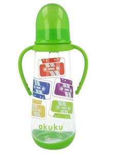 Fľaša s obrázkom Akuku 250 ml - Zelená