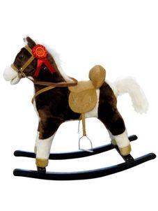 Hojdací koník Milly Mally Mustang tmavo hnedý - Hnedá