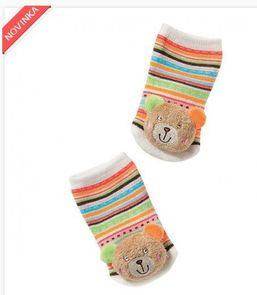 Hrkajúce ponožky s mackom BabyFehn