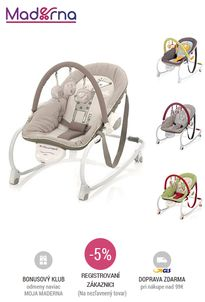 JANE - EVOLUTION - vibrujúce lehátko / jedálenská stolička