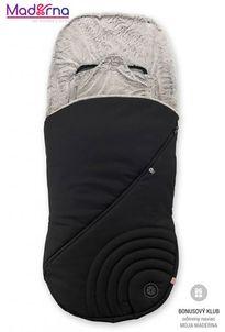 KIDDY fusak s kožušionou ONYX BLACK pre športové kočíky