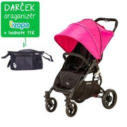 Kočík športový - Valco SNAP 4 BLACK s polohovaním - ružový