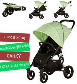 Kočík športový - Valco SNAP 4 BLACK s polohovaním - zelený
