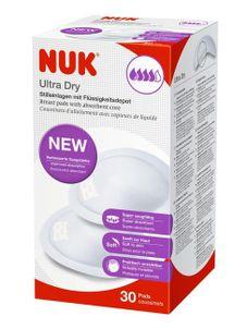 Laktačné ultrasavé prsné vložky NUK 30 ks - Biela