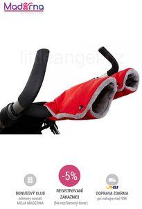 Little Angel - rukavice na kočiar Ťapka červená/šedá