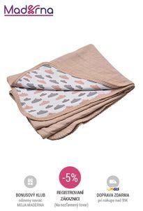 LODGER - Dreamer Quilt bavlnená deka - Nude 100x150 cm