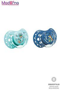 LOVI Cumlík silikónový symetrický dynamický Folky (6-18m) 2 ks – modrý