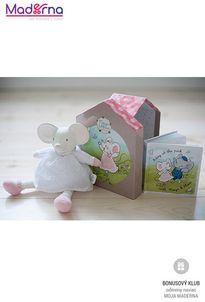 Meiya and Alvin darčekový set DELUXE knižka + hračka myška Meiya 25cm