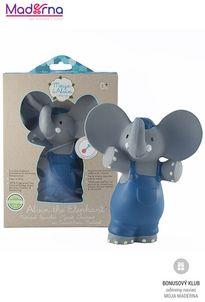 Meiya and Alvin pískatko/hryzátko (100% prírodný kaučuk) slonik Alvin